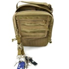 Outdoor Multi-Function Bag Accessories 3-Ring Buckle - Tan