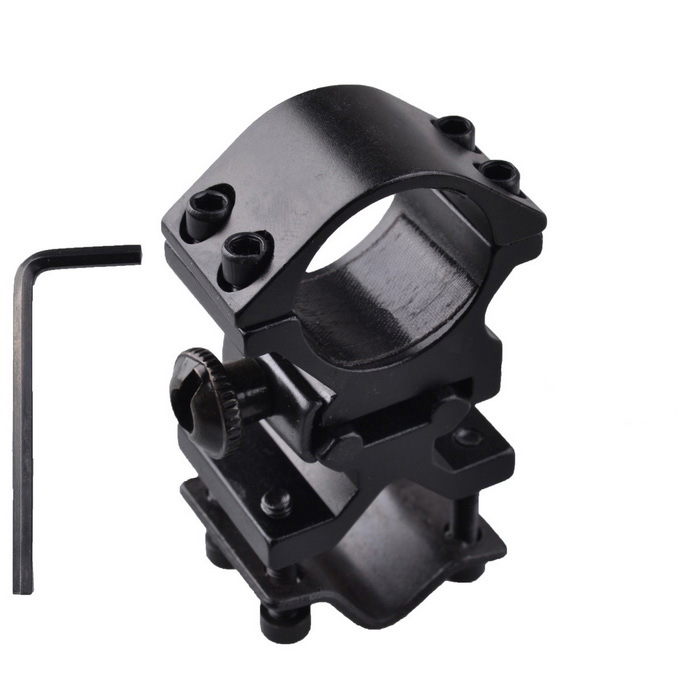 Dureza Gun Mount Holder Clip Grampo alta para Flashlight - Black