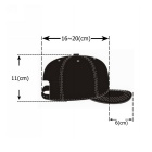 Vampire Pattern Embroidery Baseball Cap - Black