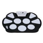 Portable Electronic Roll up Drum Pad Kit w/ Stick - Black