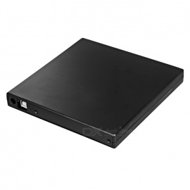 USB 2.0 External 12.7mm SATA Optical Drive Case Set - Black