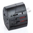 Universal Travel Dual USB Power Adapter Charger - Black