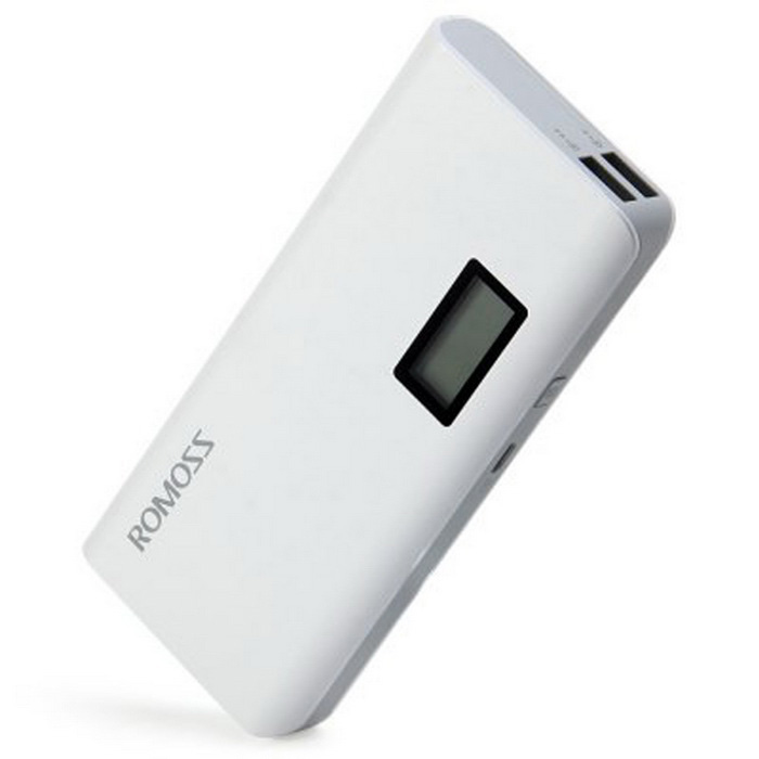 ROMOSS Sense 4 Plus LCD 10400mAh Power Bank - Белый