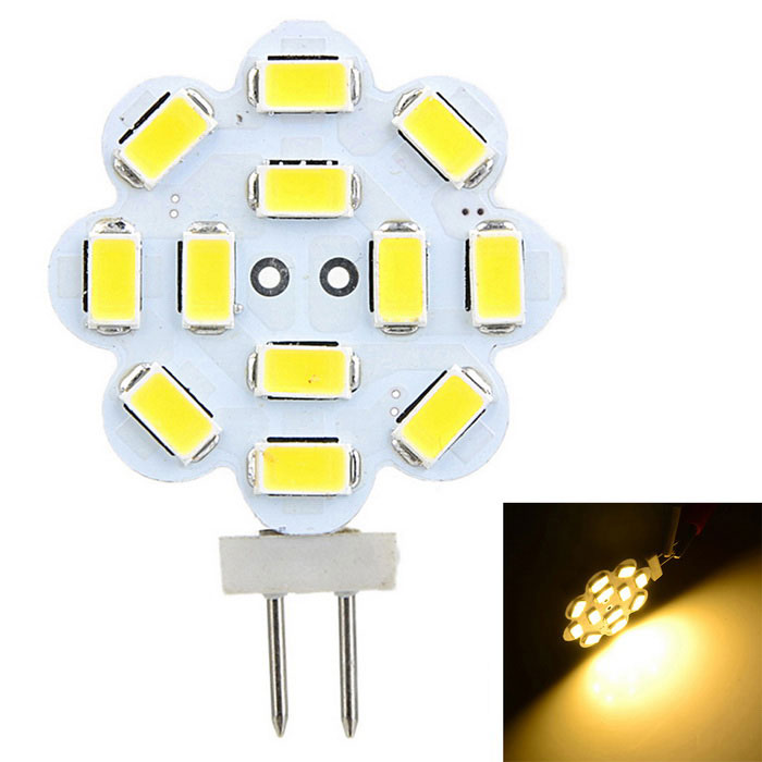 Marsing G4 3W 12-SMD 5730 300lm 3000K Warm White LED Lamp (AC 12V)
