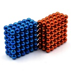 5mm Puzzle Magnetic Beads - Light Blue + Orange (216PCS)