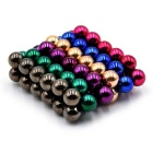 5mm DIY NdFeB Magnetic Balls Toy - Deep Pink + Multi-Colored (72PCS)