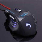 USB Wired 7-Color LED beleuchtete Gaming Keyboard Maus Set-Schwarz