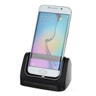 Socket Stand Charger for Samsung Galaxy S7 with USB Cable - Black
