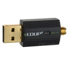EDUP EP-N1581 300Mbps USB Wireless Wi-Fi Network Lan Card - Black