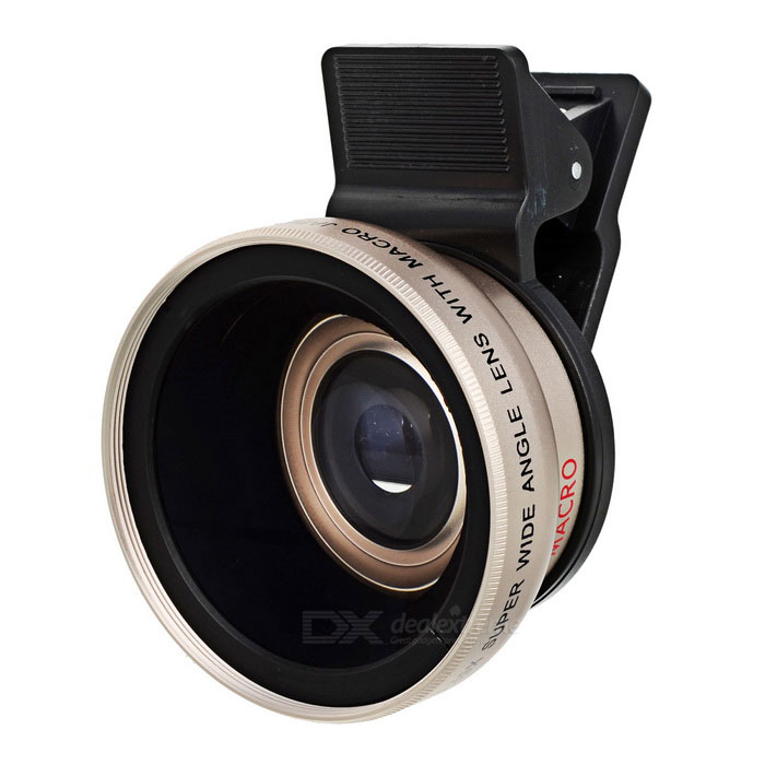 0.45x Super Wide Angle + Fish Eye + Microscope Lens - Champanhe Ouro