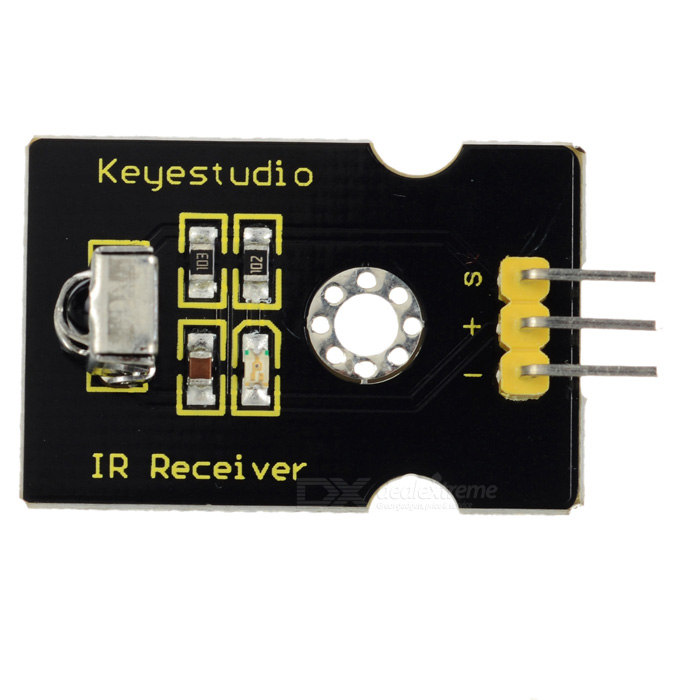 Keyestudio Digital IR Receiver Module for Arduino - BlackSensors<br>Form  ColorBlackModel-Quantity1 setMaterialFR4ApplicationArduino scientific researchWorking Voltage   5 VEnglish Manual / SpecYesDownload Link   -Packing List1 x Digital IR Receiver<br>