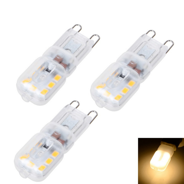 G9 4W 14-2835 LED 600lm luz decorativa blanca caliente (ac 220V / 3PCS)