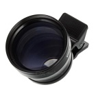 2.0X 37mm Clip-on Camera Teleconverter Lens - Black