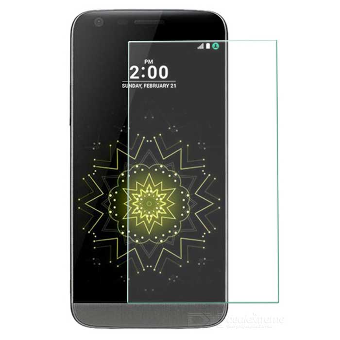 0.26mm Tempered Glass Screen Protector for LG G5 - TransparentScreen Protectors<br>Form  ColorTransparentScreen TypeGlossyModel-MaterialTempered glassQuantity1 DX.PCM.Model.AttributeModel.UnitCompatible ModelsLG G5Packing List1 x Tempered glass screen protector1 x Alcohol prep pad1 x Dust cleaning paper<br>