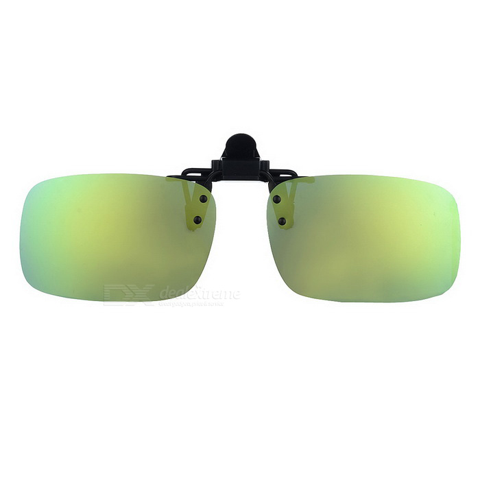 Cool Color Clip-on Polarized Óculos de sol lente - preto + amarelo