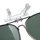 Cool Color Clip-on Polarized Sunglasses Lens - Silver + Dark Green