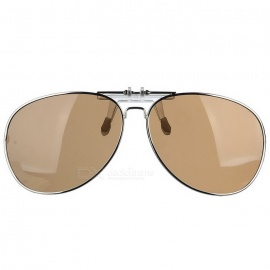 Cool Color Clip-on Polarized Sunglasses Lens - Silver + Yellow