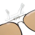 Lente de gafas de sol Polarizada Clip-On de Color Cool-plata + moreno