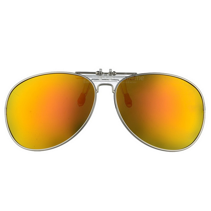 Cool Color Clip-on Polarized Sunglasses Lens - Silver + Red