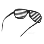 Novelty Plastic Shutter Glasses - Black