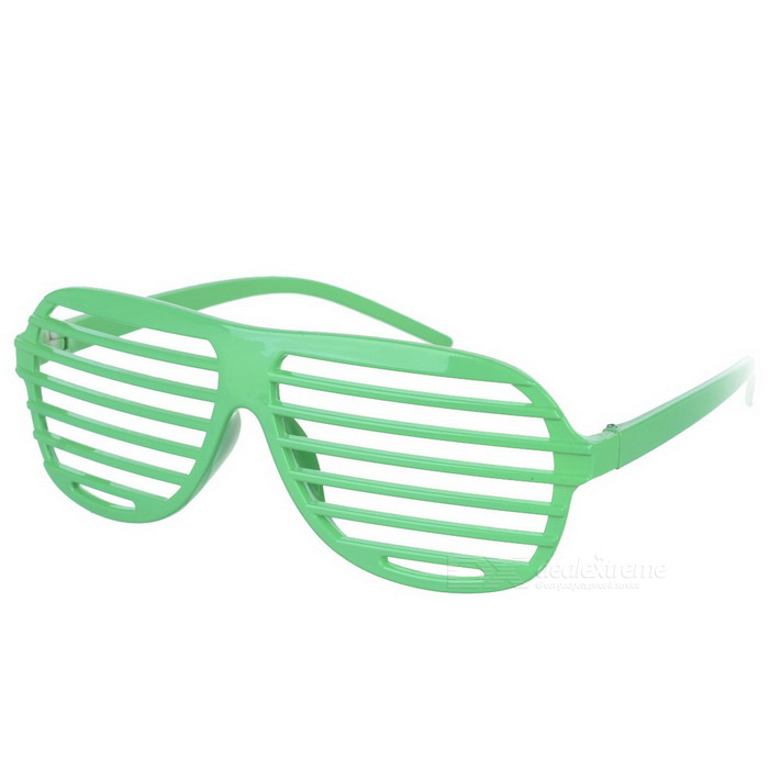Novelty Plastic Shutter Glasses - Green