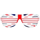 Novelty UK Flag Pattern Shutter Glasses - Blue + Red + Multi-Colored