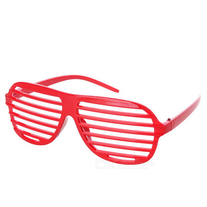 Novelty Plastic Shutter Glasses - Red