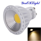 Youoklight YK1657 GU10 6W dimmable branco quente COB LED spotlight (110V)