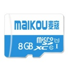 MAIKOU Class10 Micro SD / TF High Speed Memory Card - Blue (8GB)