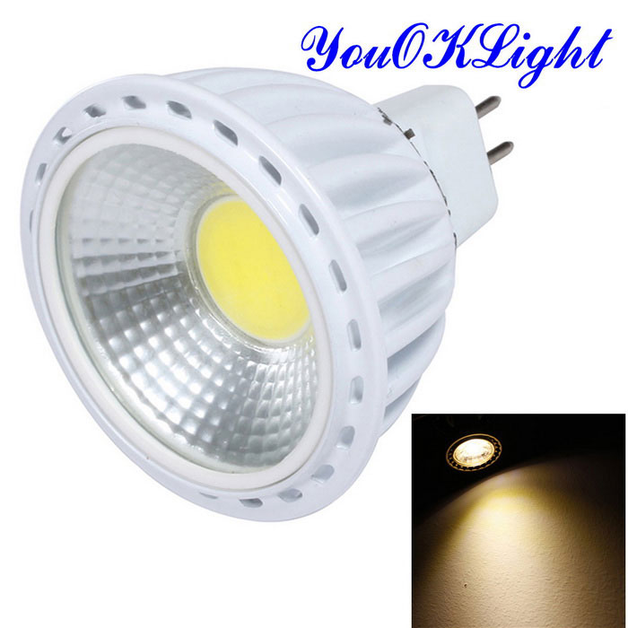 YouOKLight YK1661 MR16 6W branco quente COB LED Spotlight (12V)