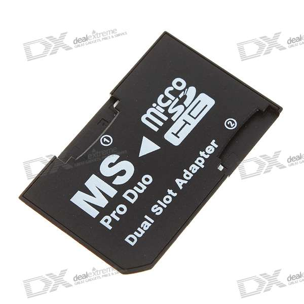 Dual Micro SD/TF to MS Card Adapter - Black (16GB Max) аудио аппаратуру в москве ms max