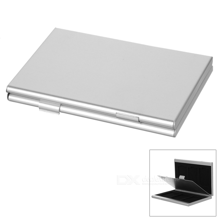 6-Slot SD Memory Card Storage Box - SilverOther Accessories<br>Form ColorSilverMaterialAluminum alloyQuantity1 DX.PCM.Model.AttributeModel.UnitPacking List1 x Case<br>