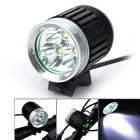 UltraFire Cool White Bike Light & Headlamp - Black + Silver (4*18650)