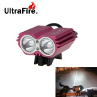 UltraFire Rechargeable 2-LED 2400lm Cool White Bike Headlight - Red