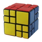 6.5cm Black Background 4x4x4 Bundled Magic IQ Cube - Orange + White