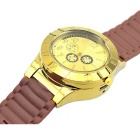 2-in-1 Metal Watch & USB Electronic Kevyempi - Golden + Brown