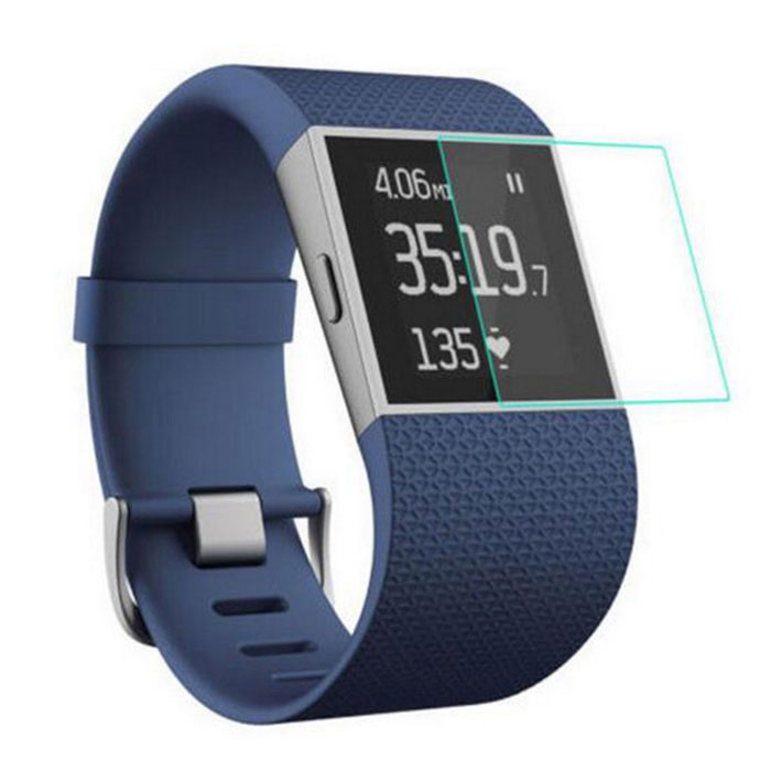 Protective Tempered Glass Film for Fitbit Surge - Transparent