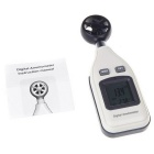 "1.5"" LCD Digital Air Velocity Anemometer & Thermometer - White + Black"