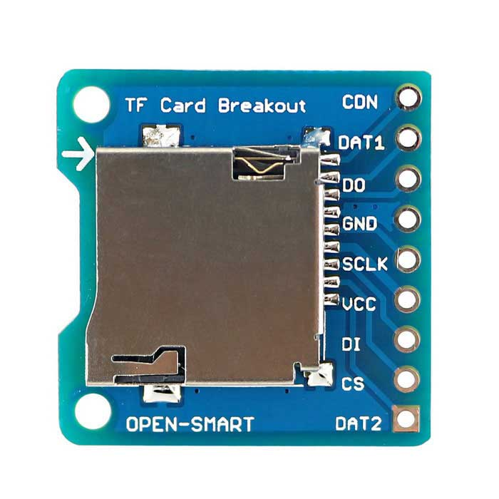 OPEN-SMART Micro SD / TF Breakout a DIP bordo del modulo per il fai da te