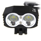 UltraFire recargable 2 - LED 2400LM 4 -Mode linterna de la bici - negro