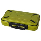 Waterproof Fishhook Fishing Lure Tool Storage Box - Army Green + Black