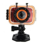 G260 HD 1080P FDH Waterproof Camera Movement Mini DV - Red + Silver