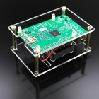 Acrylic Case w/ Cooling Fan for Raspberry Pi 3 Pi 2 - Transparent