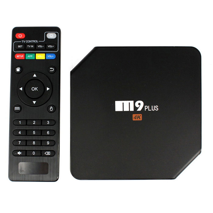 M9 Plus 4K Media Player con 2GB de RAM, ROM de 16GB - Negro (enchufes de los EEUU)