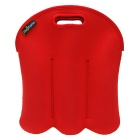 Hugmania 6-Slot Beer Baby Bottle Can Beverage Wine Storage Bag - Red
