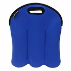 Hugmania 6-Slot Beer Baby Bottle Can Beverage Wine Storage Bag - Blue