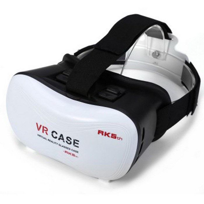 "VR-2 Virtual Reality 3D Glasses Box for 4~6"" Phones - White"