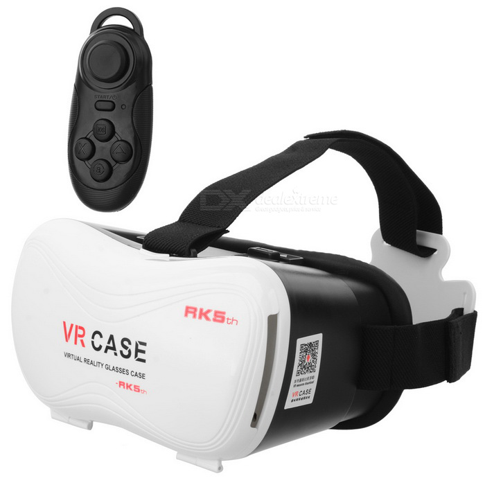 Virtual Reality 3D Glasses Box + Bluetooth Controller for 4~6 Phones3D Glasses<br>Form  ColorWhiteModelVR-2SMaterialABSQuantity1 DX.PCM.Model.AttributeModel.UnitShade Of ColorWhiteTypePolarizedPowered ByPower FreeBattery LifeN/A DX.PCM.Model.AttributeModel.UnitOther FeaturesRechargeable lithium batteries, 3.7VPacking List1 x 3D glasses1 x Wireless Bluetooth Controller<br>