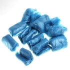 Disposable Plastic Shoe Covers Overshoe - Blue (50 Pairs)