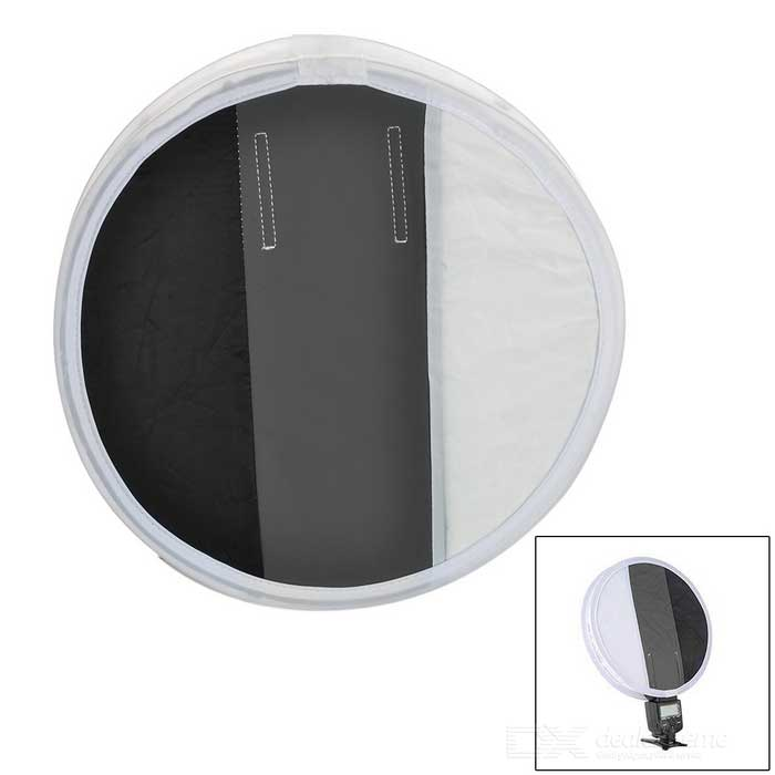 30cm Universal Folding Flash Diffuser Soft Box - White + Grey + Black